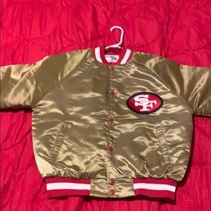 Medium 49ers gold jacket. By Chalk Line.